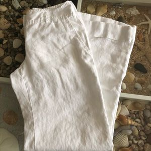 100% Linen Michael Kors Trousers Sz 4